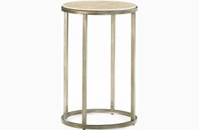 Modern Basics Natural Travertine End Table