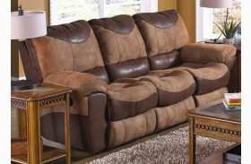 Portman Saddle/Chocolate Reclining Sofa
