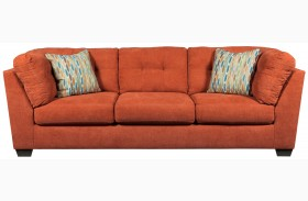 Delta City Rust Finish Sofa
