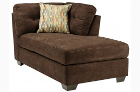 Delta City Chocolate Brown Corner Chaise