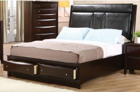 Phoenix Upholstered Storage Bed