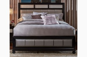 Barzini Black Platform Bed