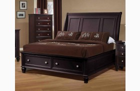 Sandy Beach Cappuccino Sleigh Storage Bed
