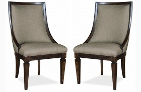 Classic Sling Upholstered Chair Set of 2