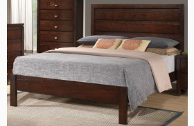 Cameron Rich Brown Platform Bed