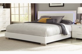 Felicity White Platform Bed
