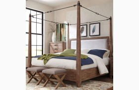 Madeleine Smoky Acacia Finish Queen Canopy Bed