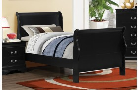 Louis Philippe Black II Youth Sleigh Bed