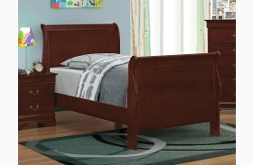 Louis Philippe Reddish Brown Youth Sleigh Bed