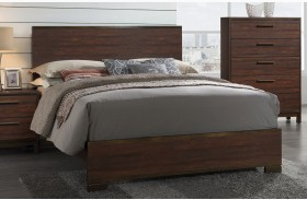 Edmonton Rustic Tobacco Finish Platform Bed