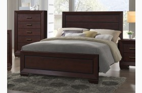 Fenbrook Dark Cocoa Panel Bed