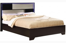 Havering Black and Sterling Platform Bed