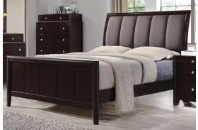 Madison Dark Merlot Panel Upholstered Bed