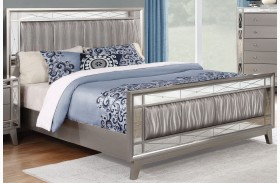Leighton Metallic Mercury Panel Bed