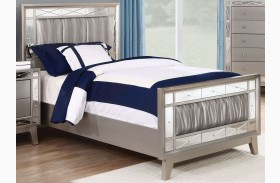 Leighton Metallic Mercury Youth Panel Bed