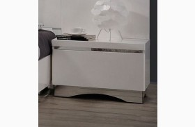 Alessandro Glossy White Finish Nightstand