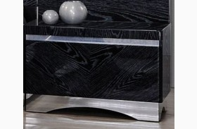 Alessandro Glossy Black Finish Nightstand