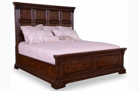 Whiskey Barrel Oak Panel Bed