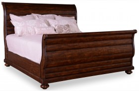 Whiskey Barrel Oak Sleigh Bed
