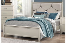 Lana Silver Panel Bed