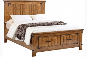 Brenner Rustic Honey Panel Storage Bed