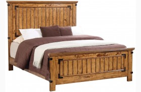 Brenner Rustic Honey Panel Bed
