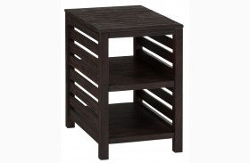 Rich Roast Slatted Chairside Table