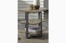 Baja Weathered Finish Chairside Table