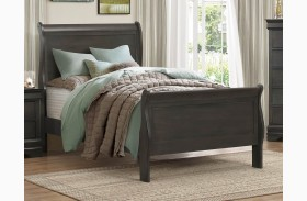 Mayville Burnished Black Youth Sleigh Bed