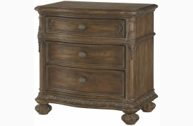 Jessica Mcclintock Boutique Baroque Finish Drawer Nightstand