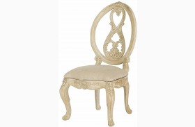 Jessica Mcclintock Boutique White Finish Veil Dining Side Chair
