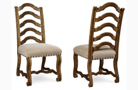 Collection One Harvest Pine Dining Side Chair Set of 2
