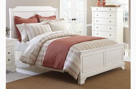 Derby Run White Sand Panel Bed