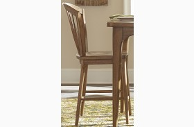 Candler Nutmeg Windsor Dining Counter Chair