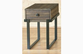 Paxton Wire Brushed Bronze Finish Chair Side Table
