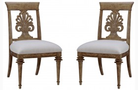 Pavilion Wood Back Side Chair Set of 2