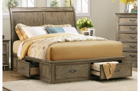 Sylvania Driftwood Platform Storage Bed