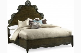 Continental Vintage Melange Panel Bed