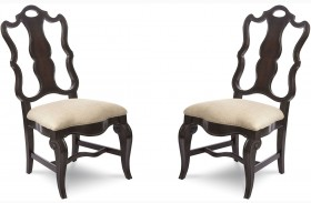 Continental Vintage Melange Side Chair Set of 2