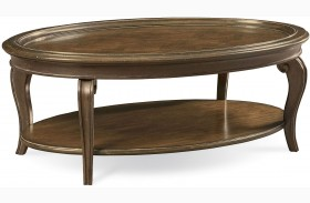 Continental Weathered Nutmeg Cocktail Table