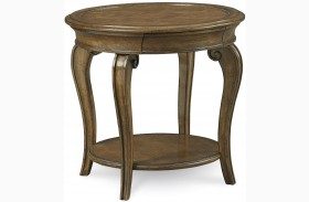 Continental Weathered Nutmeg Lamp Table