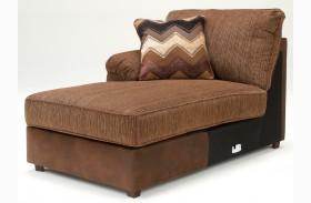 Cladio Hickory LAF Corner Chaise