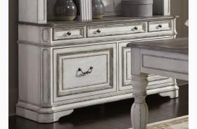 Magnolia Manor Antique White Finish Credenza