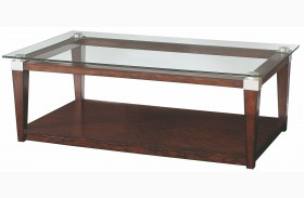 Solitaire Dark Brown Cocktail Table