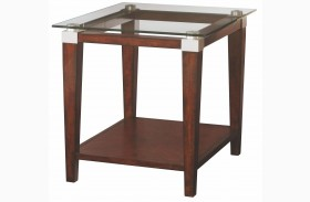 Solitaire Dark Brown End Table