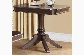 Marston Dark Cherry Finish End Table