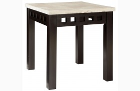 Gateway Off White Finish End Table