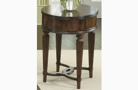 Regent Park Satin Cherry Oval Chair Side Table