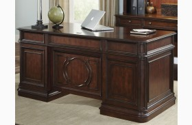 Brayton Manor Cognac Finish Jr Executive Desk