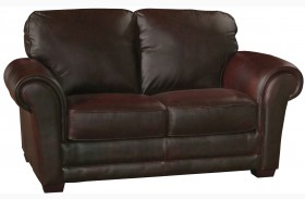 Mark Italian Leather Loveseat